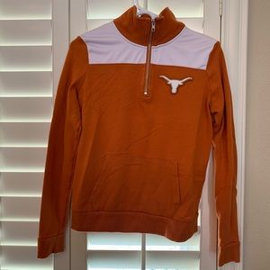 Texas Longhorns 3/4 zip sweatshirt